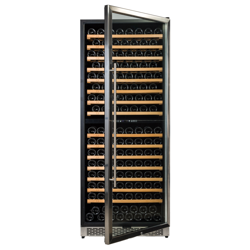Vinobox 300 Design 2T → vinoteca integrable para 300 botellas - foto frontal con la puerta abierta