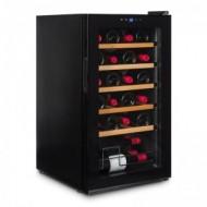 Vinobox 24 Pro → vinoteca pequeña para 24 botellas - vista de perfil con la puerta cerrada