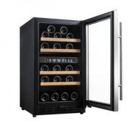 Vinoteca pequeña encastrable → Vinobox 40 GC 2T Inox con la puerta abierta