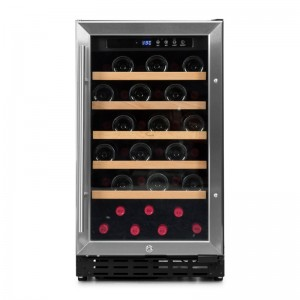 Vinoteca integrable 37 botellas → Vinobox 40 GC 1T Inox - vista frontal