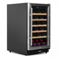 Vinoteca integrable 37 botellas → Vinobox 40 GC 1T Inox - vista de perfil con la puerta cerrada