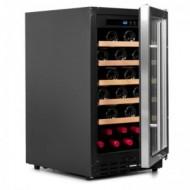 Vinoteca integrable 37 botellas → Vinobox 40 GC 1T Inox - vista de perfil con la puerta abierta