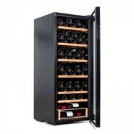Vinoteca para 96 botellas → Vinobox 96 Pro - vista lateral con la puerta abierta