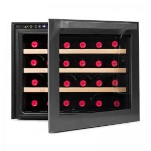 Vinoteca pequeña integrable → Vinobox 24 Design - vista frontal con la puerta abierta