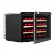 Vinoteca pequeña integrable → Vinobox 24 Design - vista de perfil con la puerta abierta
