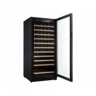 Nevera vinoteca para 110 botellas → Vinobox 110GC 1T | ZonaWine.com - vista frontal con la puerta abierta