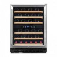 Pequeña vinoteca para 50 a 60 botellas → Vinobox 50GC 2T - vista frontal puerta cerrada