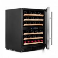 Pequeña vinoteca para 50 a 60 botellas → Vinobox 50GC 2T - vista lateral puerta abierta