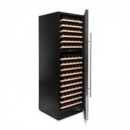 Vinoteca encastrable 168 botellas → Vinobox 168GC 2T Inox | ZonaWine - vista lateral con la puerta abierta
