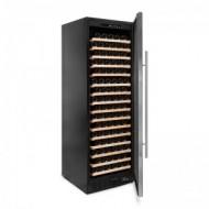 Vinoteca 168 botellas color negro → Vinobox 168GC 1T Inox - vista lateral con la puerta abierta
