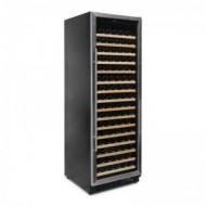 Vinoteca 168 botellas color negro → Vinobox 168GC 1T Inox - vista lateral con la puerta cerrada