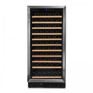 Vinoteca integrable 110-120 botellas → Vinobox 110GC 1T Inox - vista frontal con puerta cerrada
