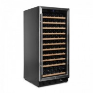 Vinoteca integrable 110-120 botellas → Vinobox 110GC 1T Inox - vista lateral con puerta cerrada