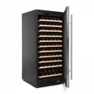 Vinoteca integrable 110-120 botellas → Vinobox 110GC 1T Inox - vista lateral con puerta abierta