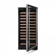 Vinoteca integrable 110-120 botellas → Vinobox 110GC 1T Inox - vista frontal con puerta abierta