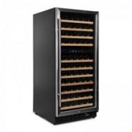 Nevera vinoteca 110 botellas → Vinobox 110GC 2T Inox - vista lateral puerta cerrada