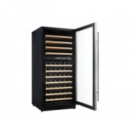 Nevera vinoteca 110 botellas → Vinobox 110GC 2T Inox - vista de perfil