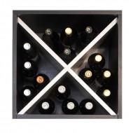 Cubo  Botellero en blanco y negro para 16 botellas → EW 6116
