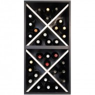 Cubo  Botellero doble en blanco y negro → EW 6216