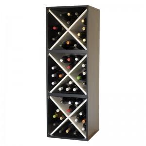 EW6316 botellero tipo cubo en blanco en negro de zonawine.com