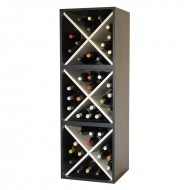 Triple cubo botellero en blanco y negro → EW 6316