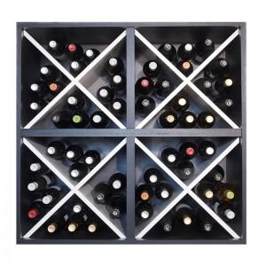 Aparador botellero cuádruple cubo 80 x 80 blanco y negro→ EW 6416 p