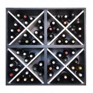Aparador botellero cuádruple cubo 80 x 80 blanco y negro→ EW 6416