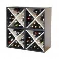 Aparador botellero cuádruple cubo 80 x 80 blanco y negro→ EW 6416 l