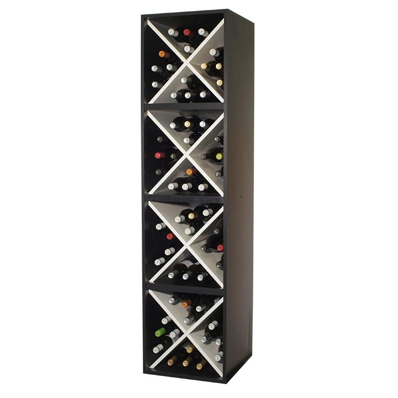 Cubo botellero cuatro alturas  en blanco y negro→ EW 8416      P