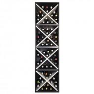 Cubo botellero cuatro alturas  en blanco y negro→ EW 8416 l