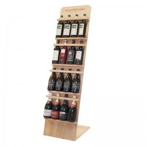 Expositor 16 marcas de vino con cierre de seguridad | CK5704
