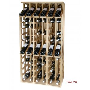 Expositor profesional de madera para 72 botellas|EX2168