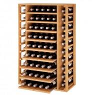 Botellero Extraible en madera de pino-roble para 65 botellas|EX2540