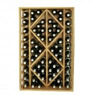 Botellero madera con rombos para 68 botellas|EX2530