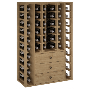 Botellero con cajones 44 botellas en madera de Pino o Roble|EX2511