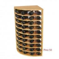Botellero para rincón en madera de pino de 50 Botellas|EX2036