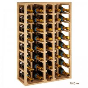 Botellero Magnum 40 botellas Vino y  Cava Combinable. Serie Merlot |EX2062