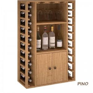 Botellero para vinos y licores en madera de pino o roble|EX2521