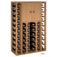 Armario Botellero vinos en madera con puertas para 44 botellas|EX2515.
