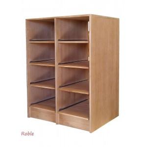 Estantería baldas deslizantes en Roble de 8 cajas de vino|ER2545
