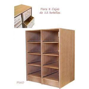 Estantería para 8 cajas de vino de 12 botellas|Serie Godello| EX 2545