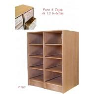 Estantería para 8 cajas de vino de 12 botellas|Serie Godello| EX2545