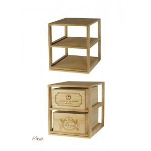 Estante de madera para 2 cajas de vino de12 botellas |EX2562