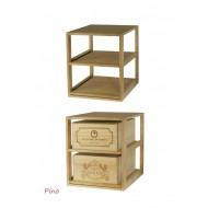 Estante de madera para 2 cajas de vino x 12 botellas |EX2562