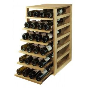 Estantería botellero con 6 baldas extraibles para 42 botellas|EX2565
