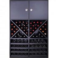 Botellero Aparador Negro 12 copas y 72 botellas|EX8160
