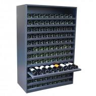 Botellero baldas extraibles en madera negra para 108 botellas|EX8170