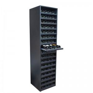 Mueble Botellero negro con baldas en columna para 68 botellas|EX8130