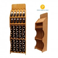 Expositor profesional para 10 marcas de vino y 60 Botellas|CD5775.