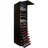 Botellero doble altura negro 44 botellas, 16 copas y cajón de accesorios| EX8135